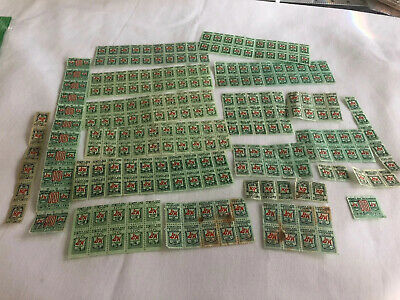 Lot Of Vintage S & H Sperry Hutchinson Green Trading Stamps