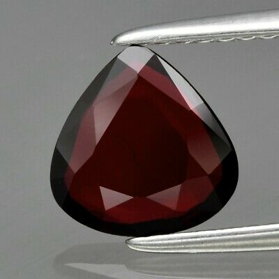1.04ct 7.6x7.5mm Pear Natural Unheated Untreated Red Ruby, Madagascar