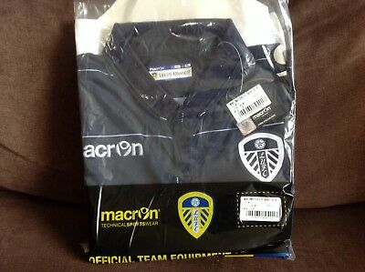 Leeds United Macron Football Shirt Away 2014-16 LUFC Men's XL Mens Navy SS BNWT