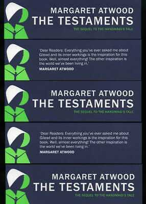 Margaret Atwood - The Testaments - Five original bookmarks (The Handmaid's Tale)