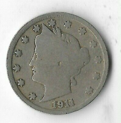 Rare Very Old Antique 1911 US Liberty V Nickel Collection Coin USA 5 Cent Money