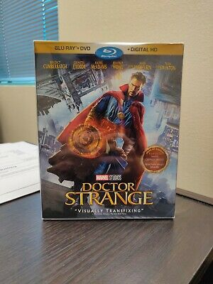 Doctor Strange Blu Ray 2017 1st Release Slip Cover Marvel with Protector NO DVD