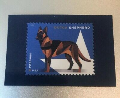 USPS Stamp Magnet DOGS Dutch Shepherd Military Working Dogs