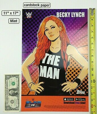 Becky Lynch The Man Wrestlemania 11 x 17 Poster 2019 NYCC Topps SLAM 19 WWE