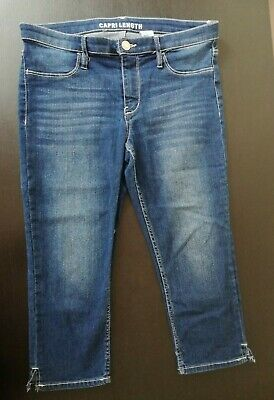 H&M Girls Skinny Fit Capri Length Denim 12-13 Years Pre-owned