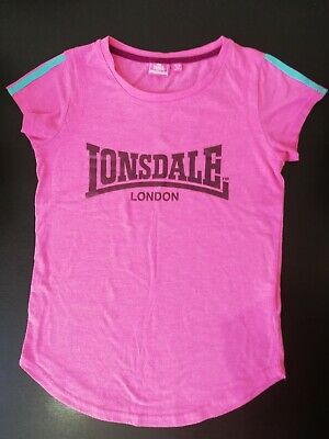 Girls Lonsdale London Pink Top Age 11-12 Years Pre-owned