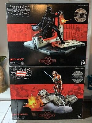 Star Wars The Black Series Darth Vader & Luke Skywalker Centerpieces Complete