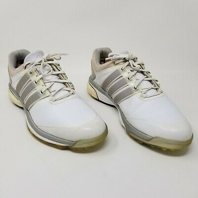Adidas Adipower Boost White/Silver Golf Shoes Q46752 Men's Size 11