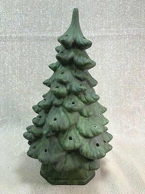 "Vintage Holland Mold Green Ceramic Christmas Tree 12"" (NO CORD/LIGHT)"