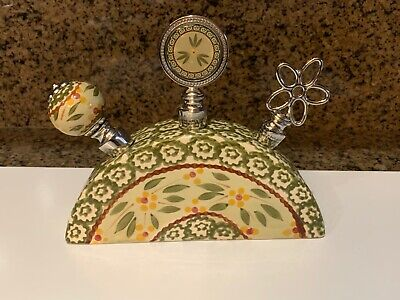 NWOT Temp-tations by Tara Old World Green Set Of 3 Wine Bottle Stoppers Display