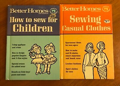 BETTER HOMES and GARDENS~2 Volumes Vintage Creative Sewing Library Books~ 1966