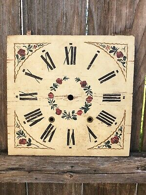 Antique  American Wooden Works Shelf Clock Dial