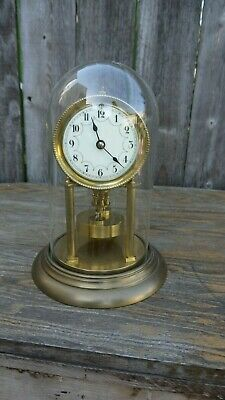 antique 400 day torsion disc pendulum  glass dome mantle clock urania project