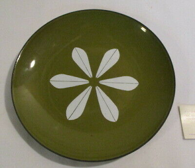 Mid Century Modern Catherine Holm Plate Green And White Unused Enamelware Plate