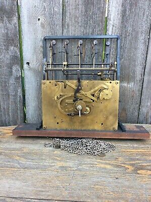 Vintage German 5 Tubular Chime Tall Case Clock Movement, Parts Only