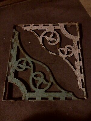 Pair of Large Vintage Cast Iron Ornate Shelf/sink  Brackets rare must see pics