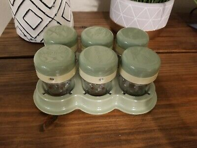 Baby Bullet Blender Replacement Parts - Date Dial Storage Jars with Lids & Tray
