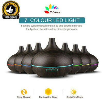 Essential Oil Ultrasonic Aroma LED Aromatherapy Diffuser Air Humidifier Purifier