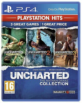 Uncharted Collection Sony Playstation PS4 Hits Game - 16 Years