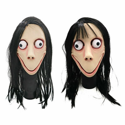 Maschera in lattice Momo Scary Halloween Cosplay Costume Puntelli Maschera con