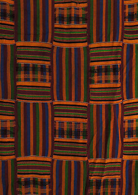 Kente Cloth Handwoven Asante Ghana African Art