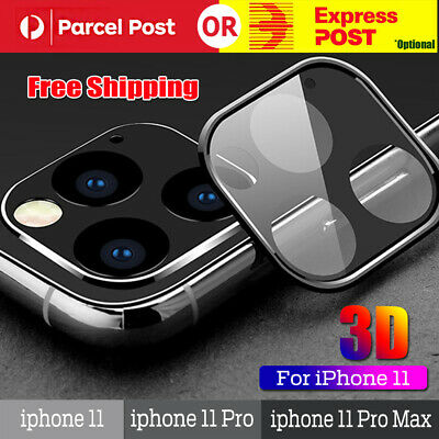 For iPhone 11 Pro Max Back Camera Lens Protector 3D Tempered Glass Metal Frame