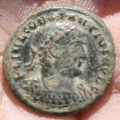Authentic Bronze Ancient Roman Coin Minted By Constantine II