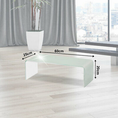 TV Wall Glass Attachment TV Cabinet Stand Monitor Elevation White 60cm Shelf