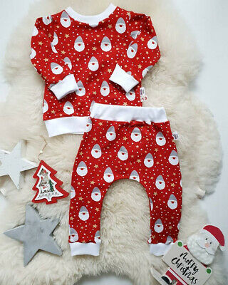 Christmas Infant Boy Girl Warm Clothes Tops T-shirt Leggings Pants Xmas Outfit