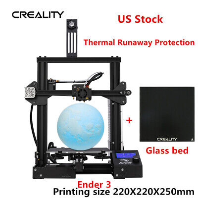Newest Creality Ender 3/ Ender 3 Pro 3D Printer + Glass Bed DC 24V 220X220X250mm