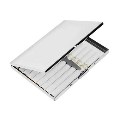 Protable Elegant Stainless Steel Extra Slim Cigarette Case Metal Box Special AU