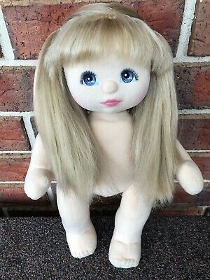 My Child Doll Ash Blonde Ultra Long Charcoal  Make Up Sold Nude