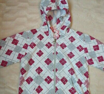 Girls Funky Hoodie with shimmering effect Pink/Grey - Age 14 yrs