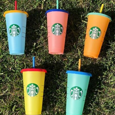 ALL for $55 - Starbucks Reusable COLOR CHANGING Cold Cup Collection Pack Of 5