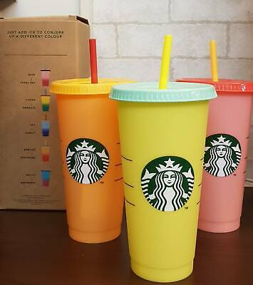 3 for $42 - Starbucks 2019 Reusable COLOR CHANGING Cold Cup X3 - Venti Tumbler