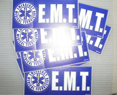 WHOLESALE Lot of 12 pieces Bumper Sticker 3X6.5 EMT