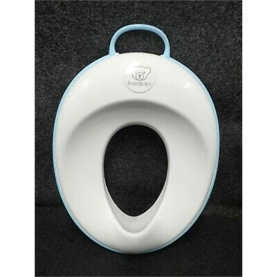 BabyBjorn Toilet Training Seat White/Turquoise for Beginners Distressed Box
