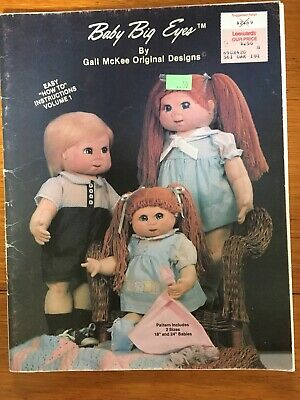 Vtg Uncut Pattern Instructions Book Baby Big Eyes Gail McKee Vol. 1 Two Sizes