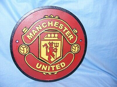Manchester United Cast Iron Sign Man Cave Garage Fence Sign Heavy Football