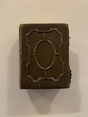 Beautiful Late Victorian Embossed Leather Photograph Album, Gilded, Brass Clips