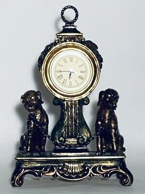 Beautiful Antique Looking Table Clock With Two Guard Dogs