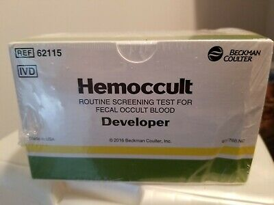 BECKMAN COULTER Hemoccult  Developer 15ml Bottle Box of 20 #62115