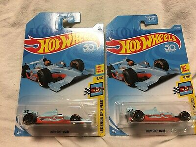 2018 Hot Wheels INDY 500 OVAL Racer Legends of Speed #123 GULF 50th Lot Of 2!