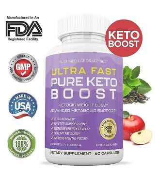 Ultra Fast Pure Keto Boost Pills Advanced BHB Ketogenic Supplement Exogenous...
