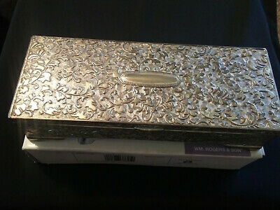 Silver Plated Chased Jewelry box W.M Rogers