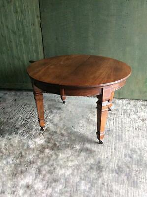 Antique Victorian inlaid Mahogany wind out dining table