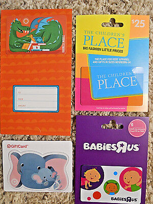 Gift Cards, Collectible, unused, new,  with backing, no value on the cards  (PC)