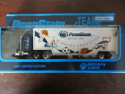 Matchbox 1991 Penn State Nittany Lions Diecast Truck TRACTOR TRAILER