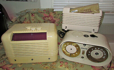 Collection Of 3 Vintage Tube Radios--Zenith G516W, Rca 16X2, Airline 94Br 1525A