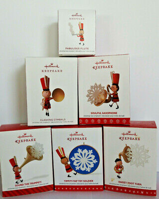 Lot 2014 - 2019 Hallmark Ornaments ~ Limited Edition ~ Toy Soldier Marching Band